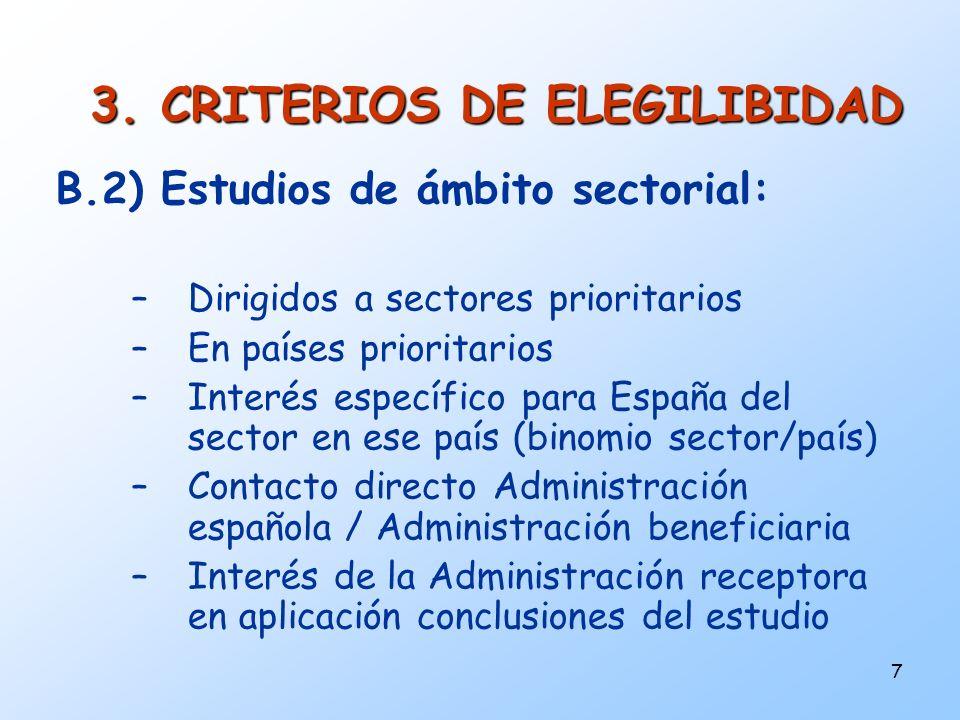 3. CRITERIOS DE ELEGILIBIDAD