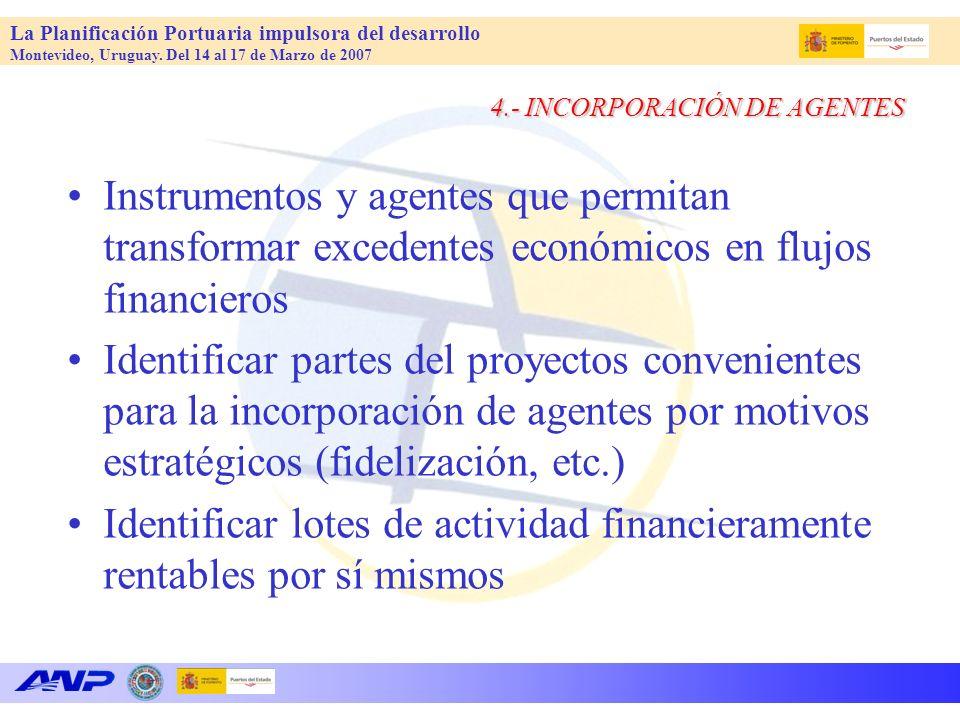 4.- INCORPORACIÓN DE AGENTES