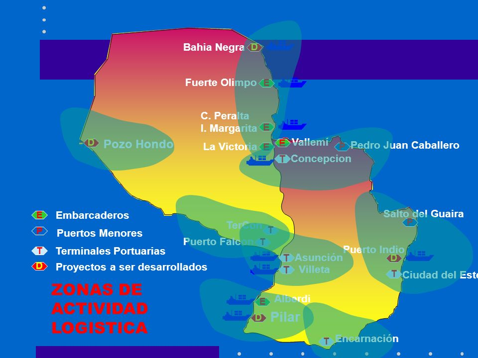 ZONAS DE ACTIVIDAD LOGISTICA Pilar Pozo Hondo Bahia Negra