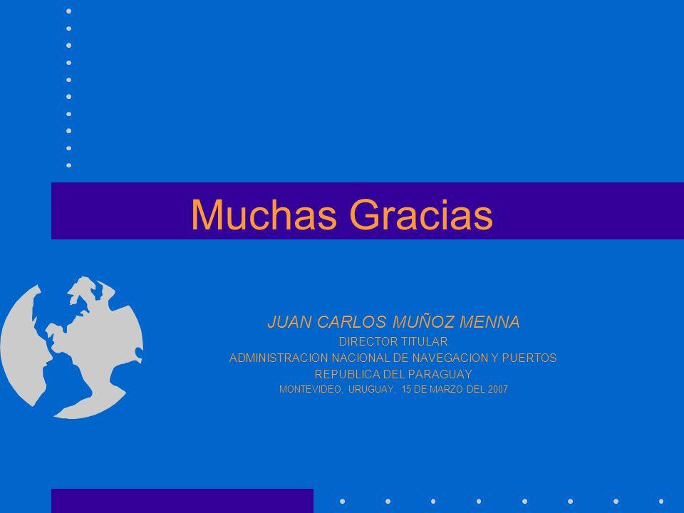 Muchas Gracias JUAN CARLOS MUÑOZ MENNA DIRECTOR TITULAR