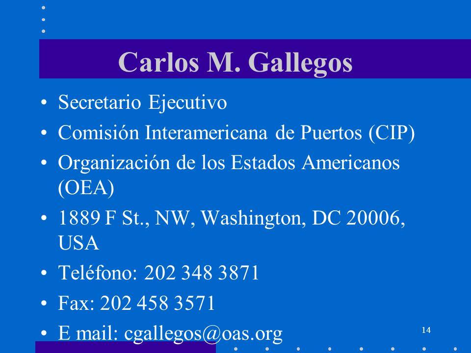 Carlos M. Gallegos Secretario Ejecutivo