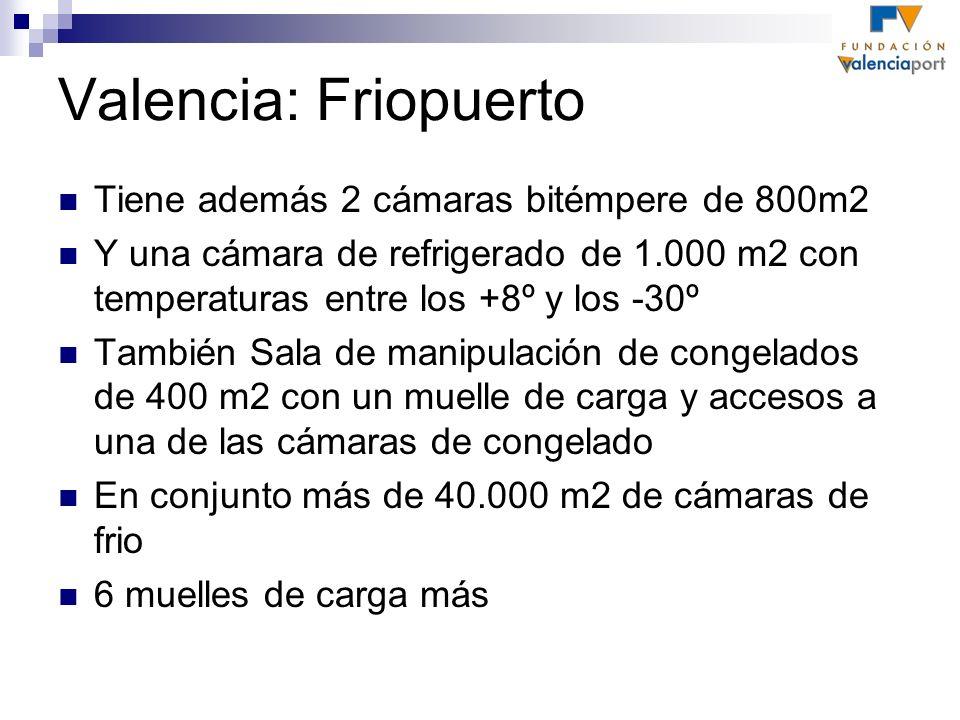 Valencia: Friopuerto Tiene además 2 cámaras bitémpere de 800m2