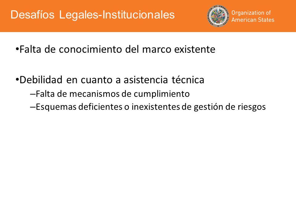 Desafíos Legales-Institucionales
