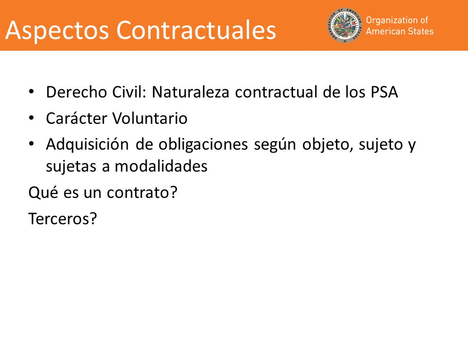 Aspectos Contractuales