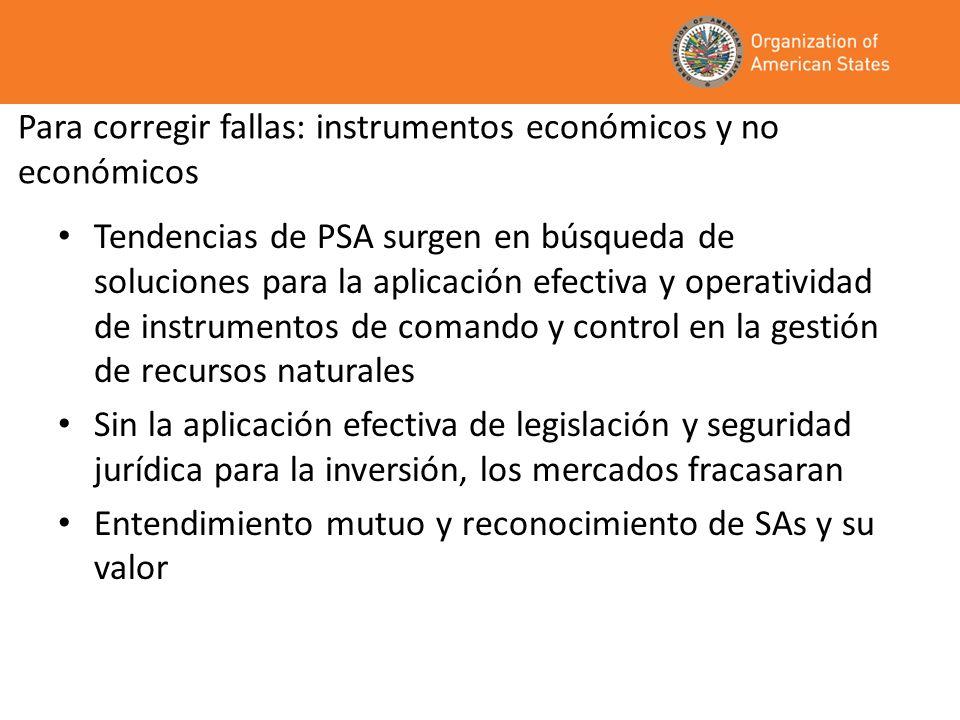 Para corregir fallas: instrumentos económicos y no económicos
