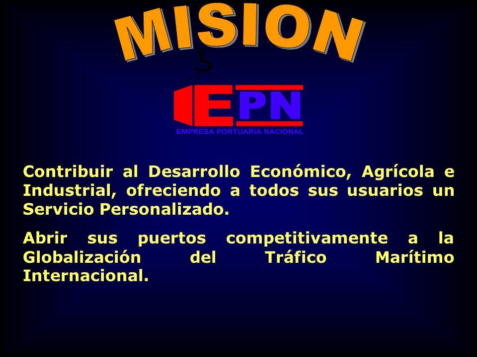 MISION Contribuir al Desarrollo Económico, Agrícola e Industrial, ofreciendo a todos sus usuarios un Servicio Personalizado.