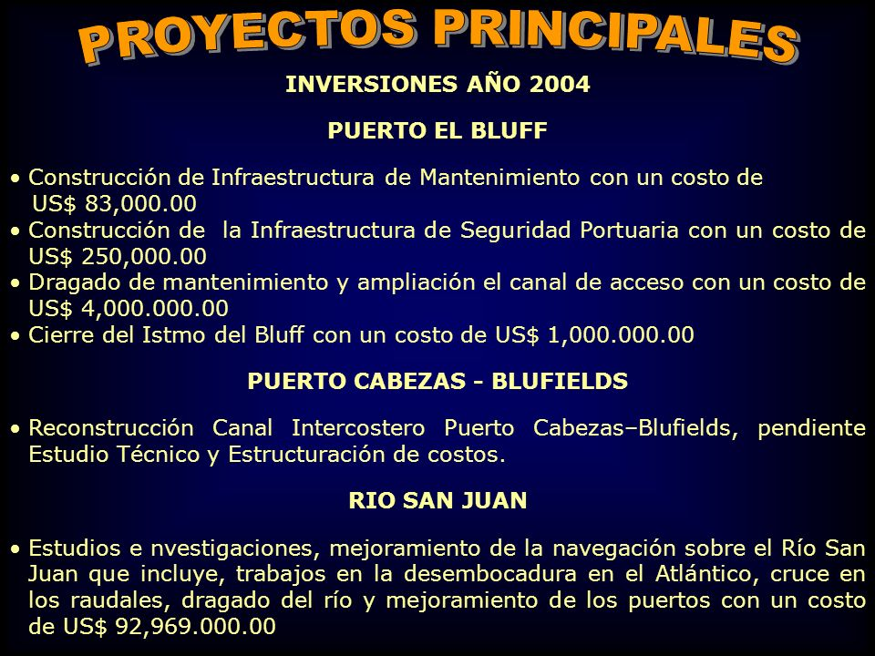 PUERTO CABEZAS - BLUFIELDS