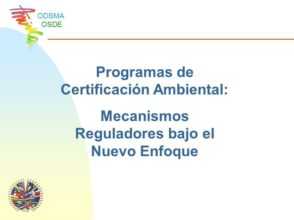 Programas de Certificación Ambiental: