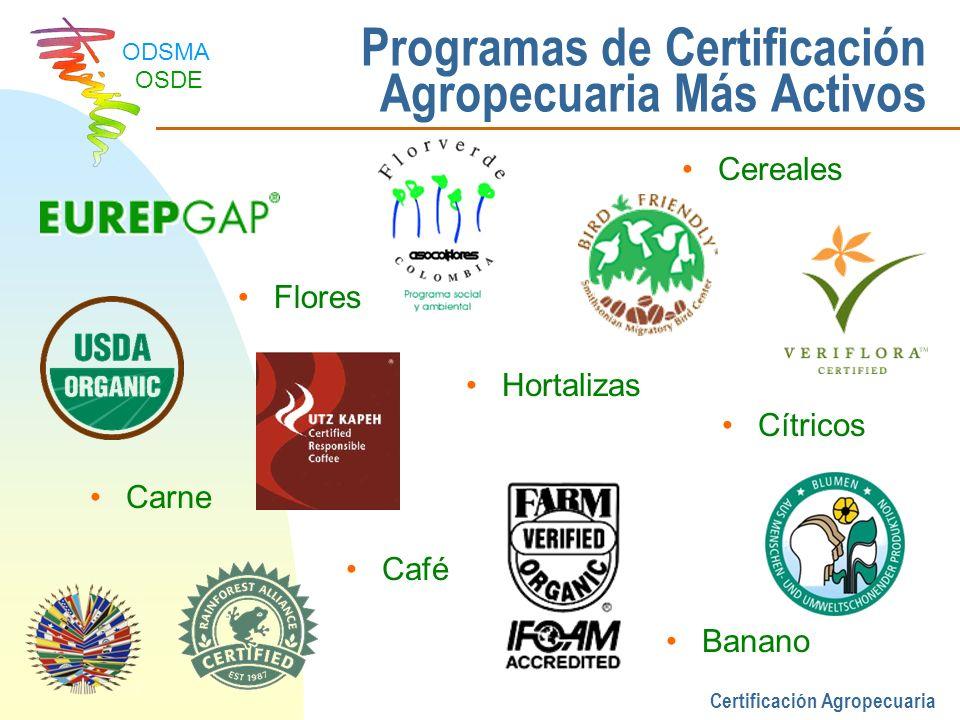 Programas de Certificación Agropecuaria Más Activos