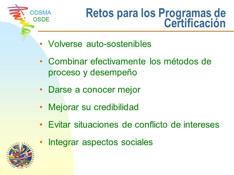 Retos para los Programas de Certificación