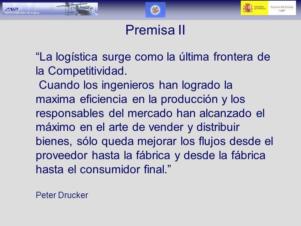 Premisa II La logística surge como la última frontera de la Competitividad.