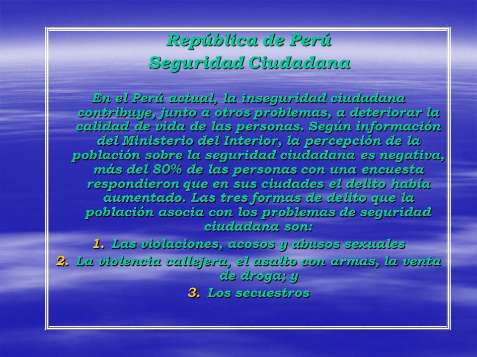 República de Perú Seguridad Ciudadana