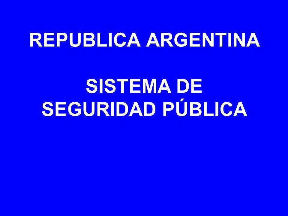 REPUBLICA ARGENTINA SISTEMA DE SEGURIDAD PÚBLICA