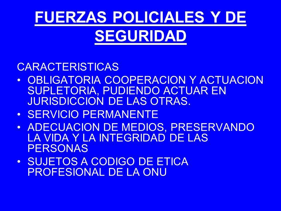 FUERZAS POLICIALES Y DE SEGURIDAD