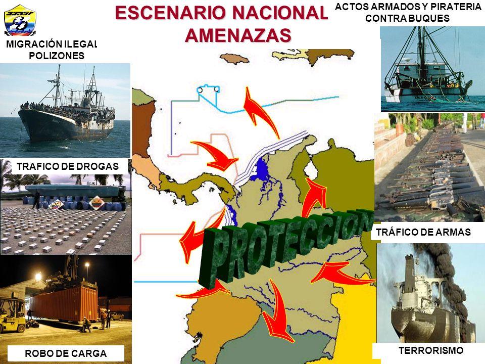 PROTECCION ESCENARIO NACIONAL DE AMENAZAS ACTOS ARMADOS Y PIRATERIA