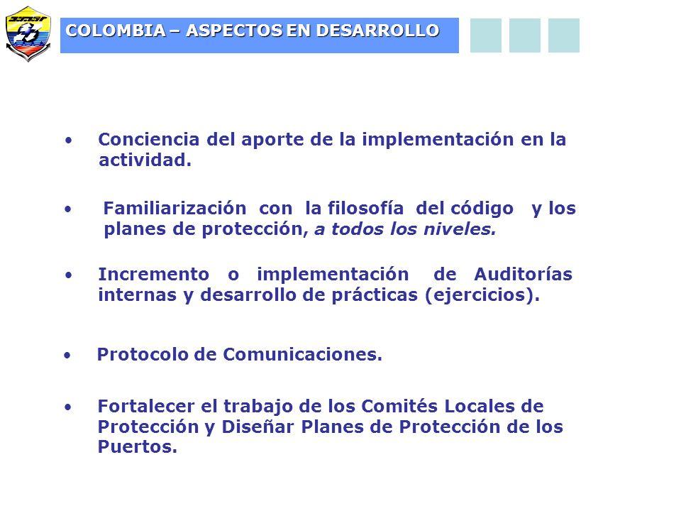 Conciencia del aporte de la implementación en la actividad.