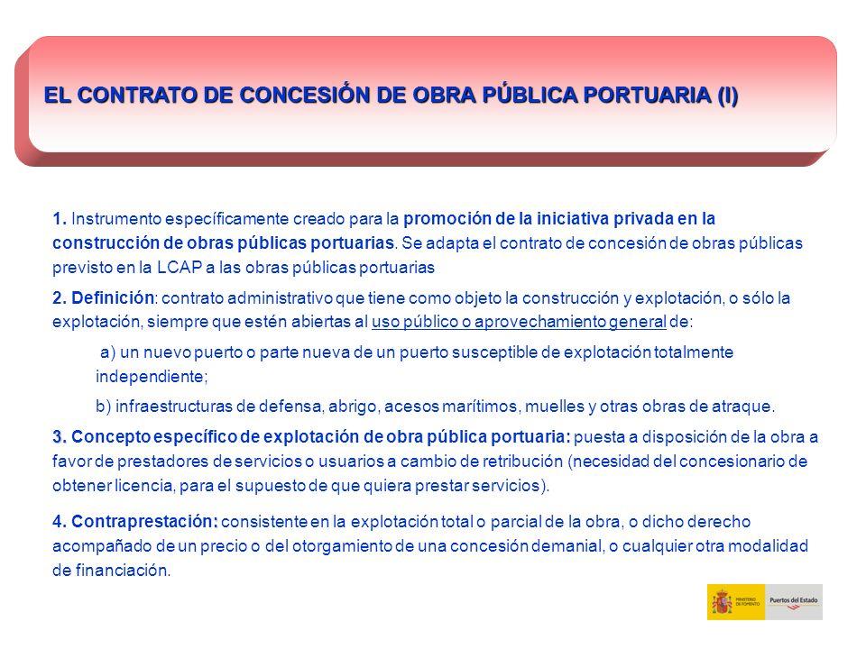 EL CONTRATO DE CONCESIÓN DE OBRA PÚBLICA PORTUARIA (I)