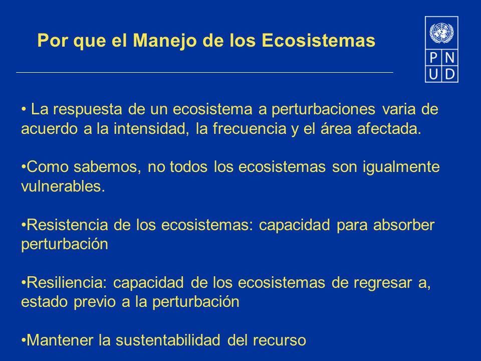 Por que el Manejo de los Ecosistemas