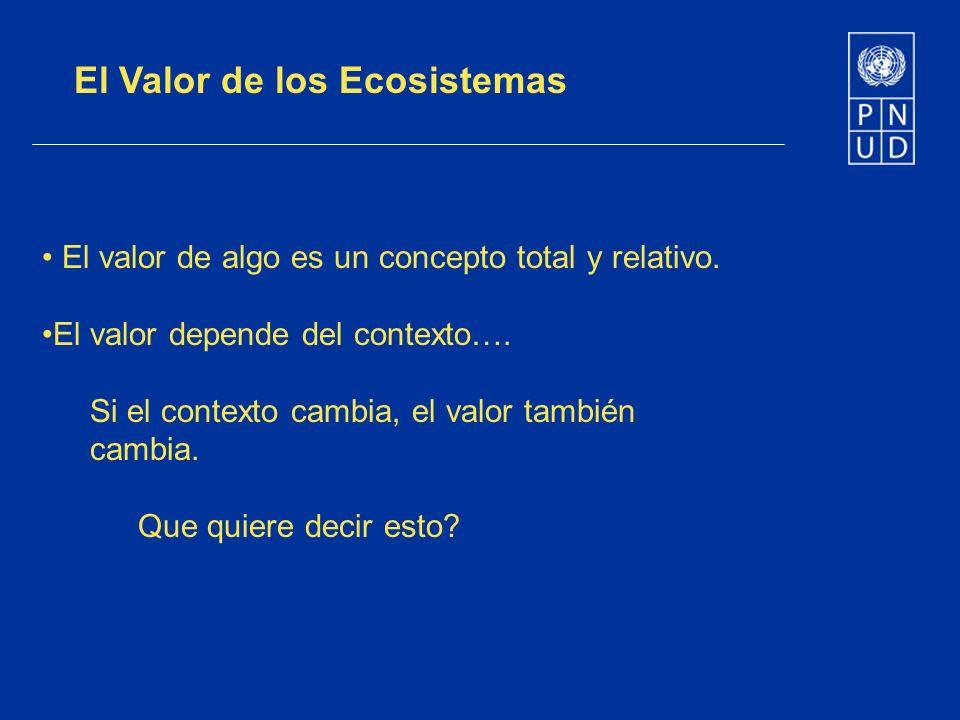El Valor de los Ecosistemas
