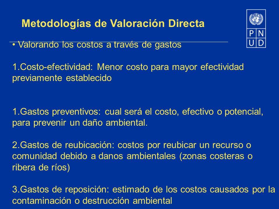 Metodologías de Valoración Directa