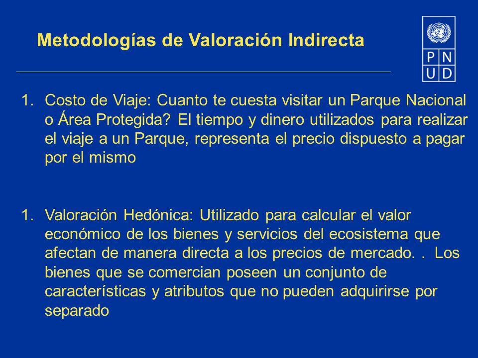 Metodologías de Valoración Indirecta