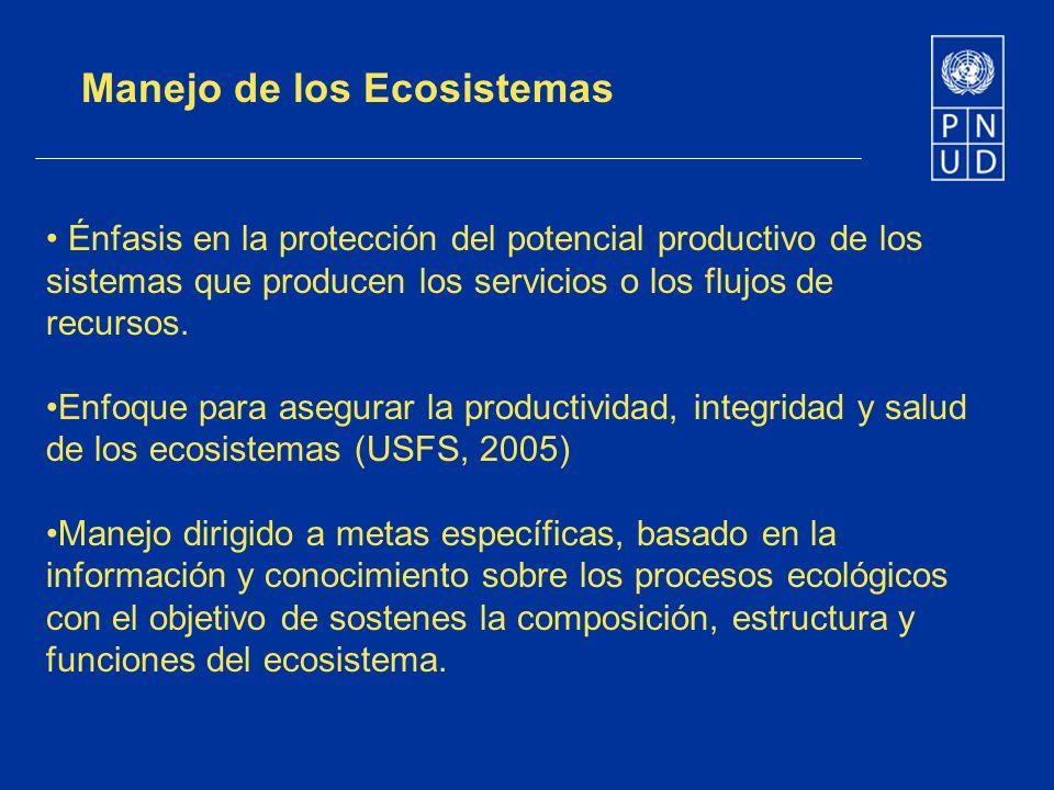 Manejo de los Ecosistemas