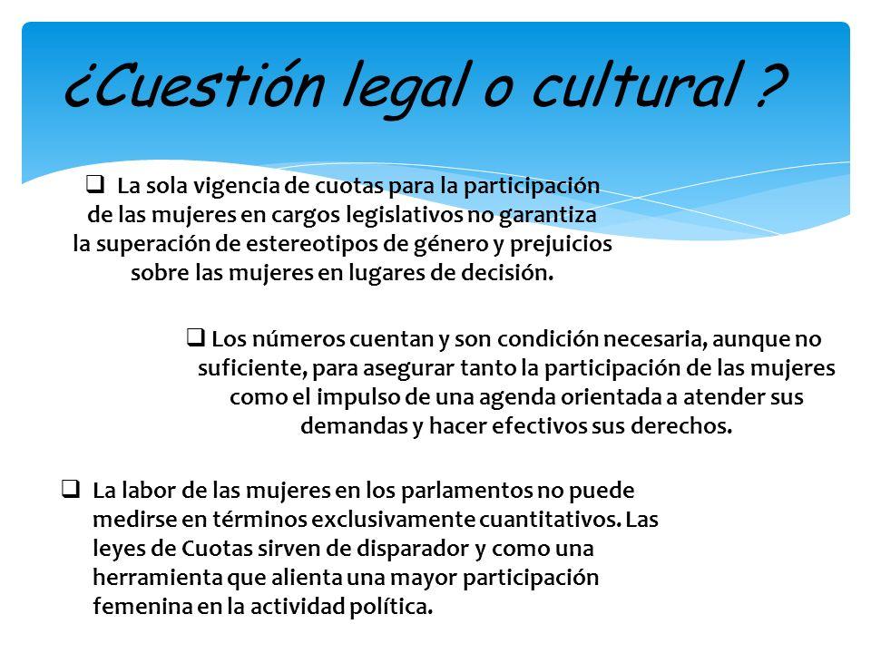 ¿Cuestión legal o cultural