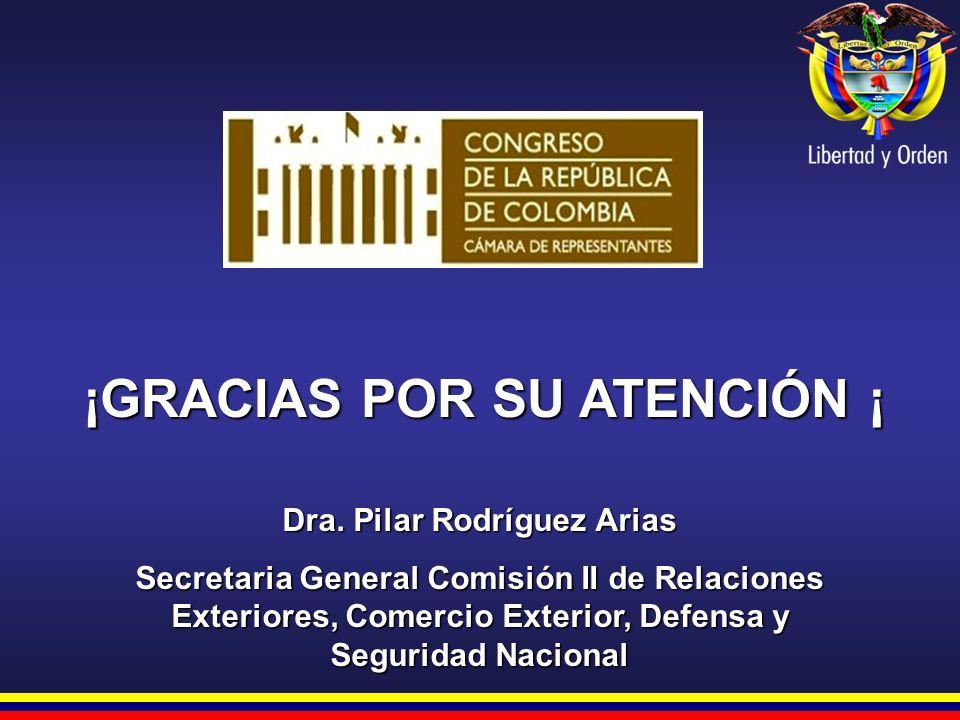 ¡GRACIAS POR SU ATENCIÓN ¡ Dra. Pilar Rodríguez Arias