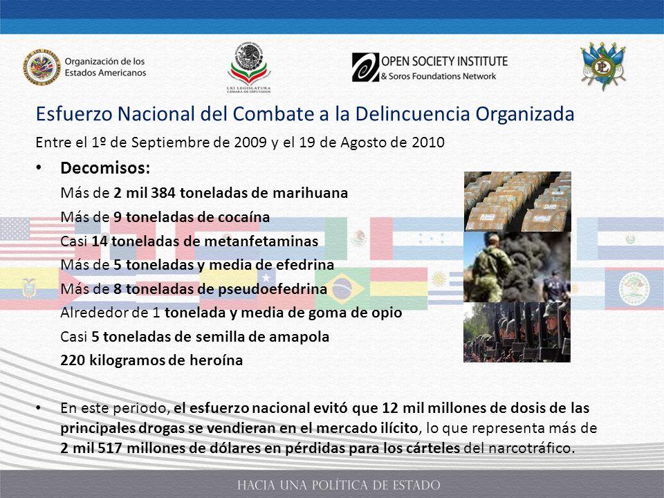 Esfuerzo Nacional del Combate a la Delincuencia Organizada