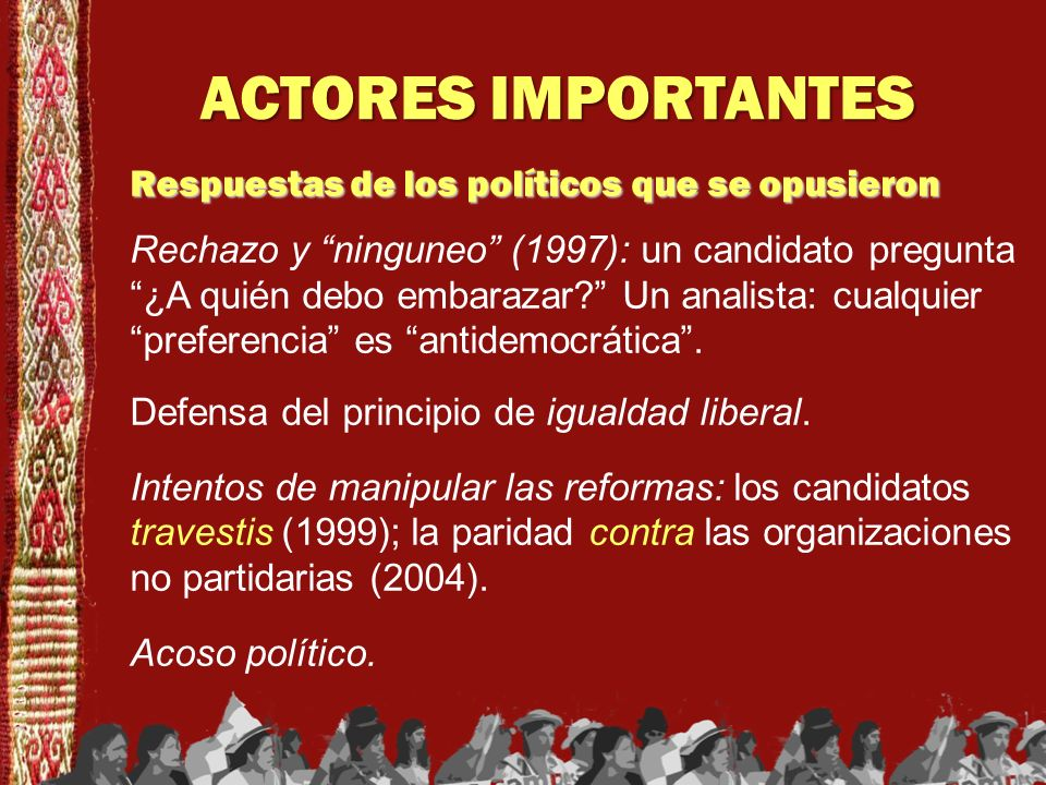 ACTORES IMPORTANTES