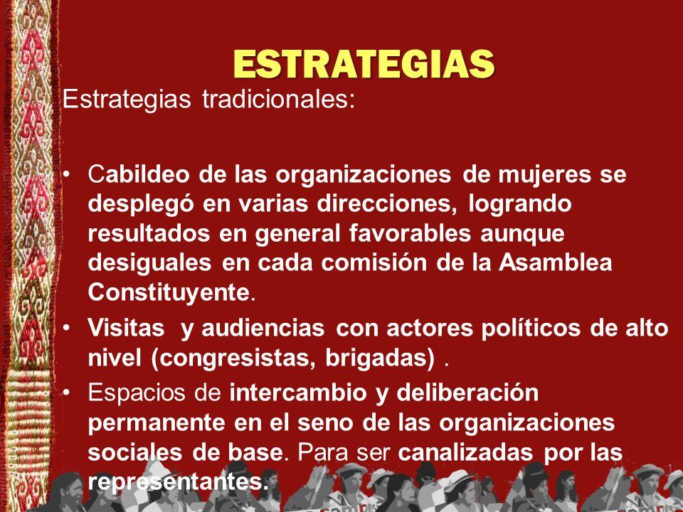 ESTRATEGIAS Estrategias tradicionales: