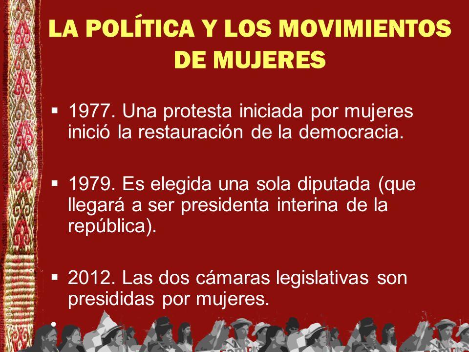 LA POLÍTICA Y LOS MOVIMIENTOS DE MUJERES