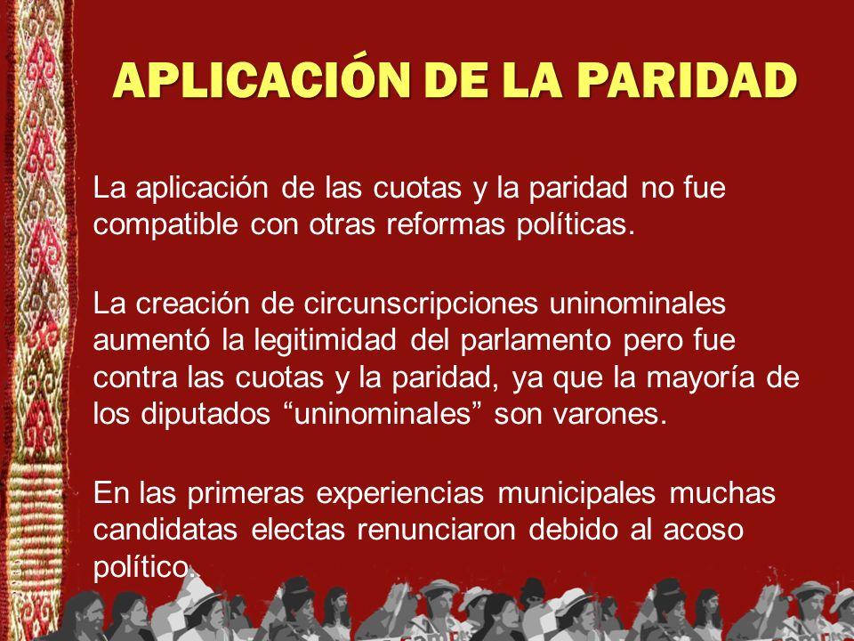 APLICACIÓN DE LA PARIDAD