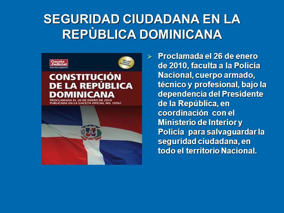 SEGURIDAD CIUDADANA EN LA REPÙBLICA DOMINICANA