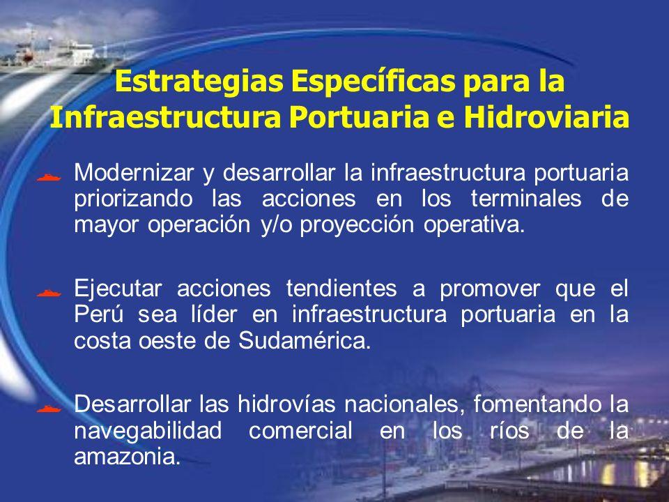 Estrategias Específicas para la Infraestructura Portuaria e Hidroviaria