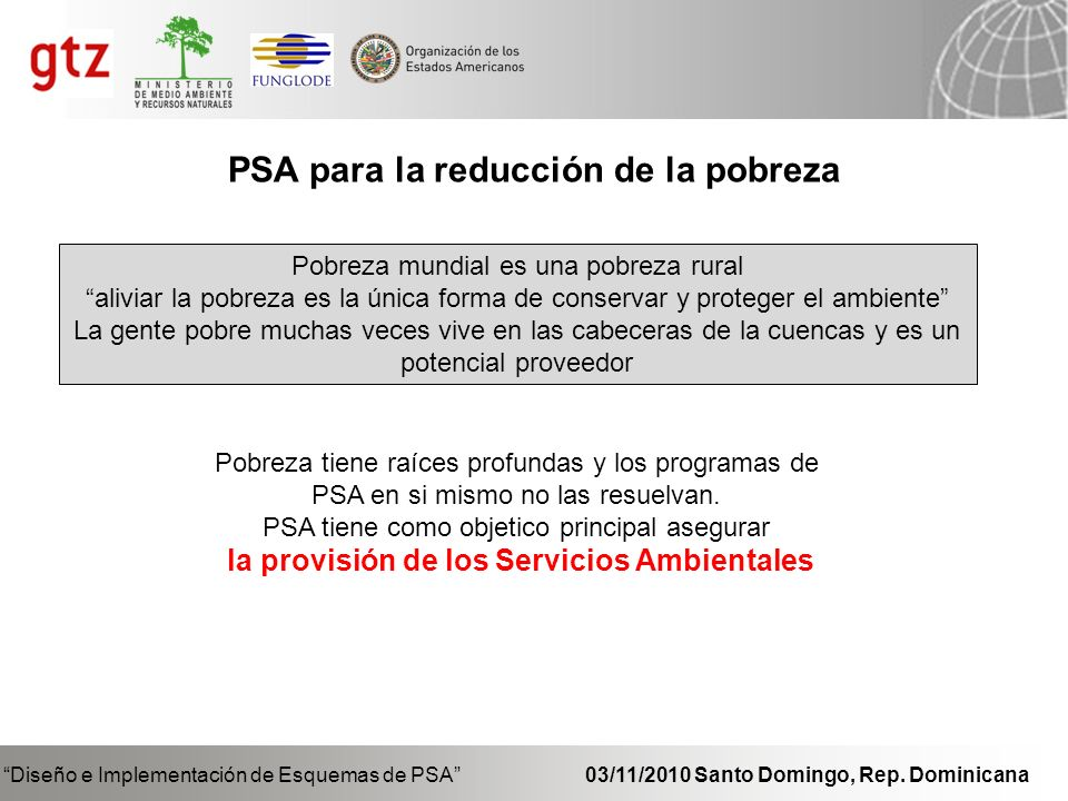 PSA para la reducción de la pobreza