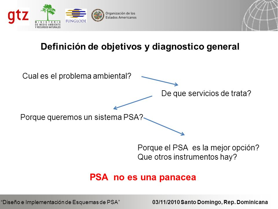 Definición de objetivos y diagnostico general