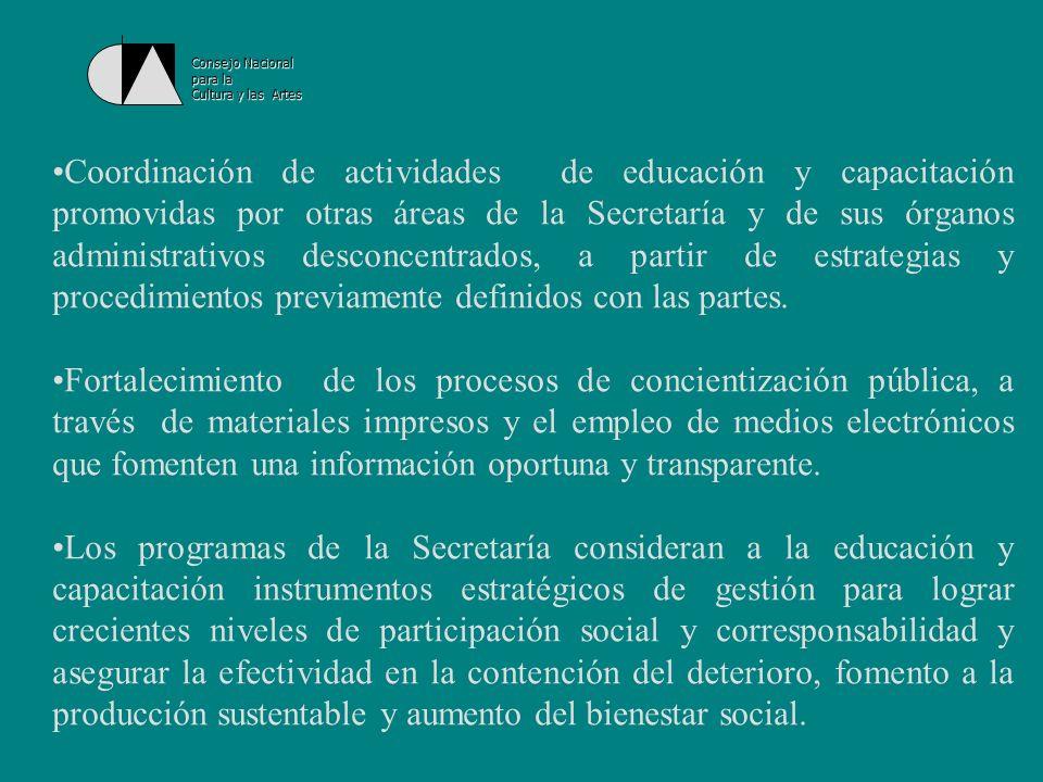 Consejo Nacionalpara la. Cultura y las Artes.