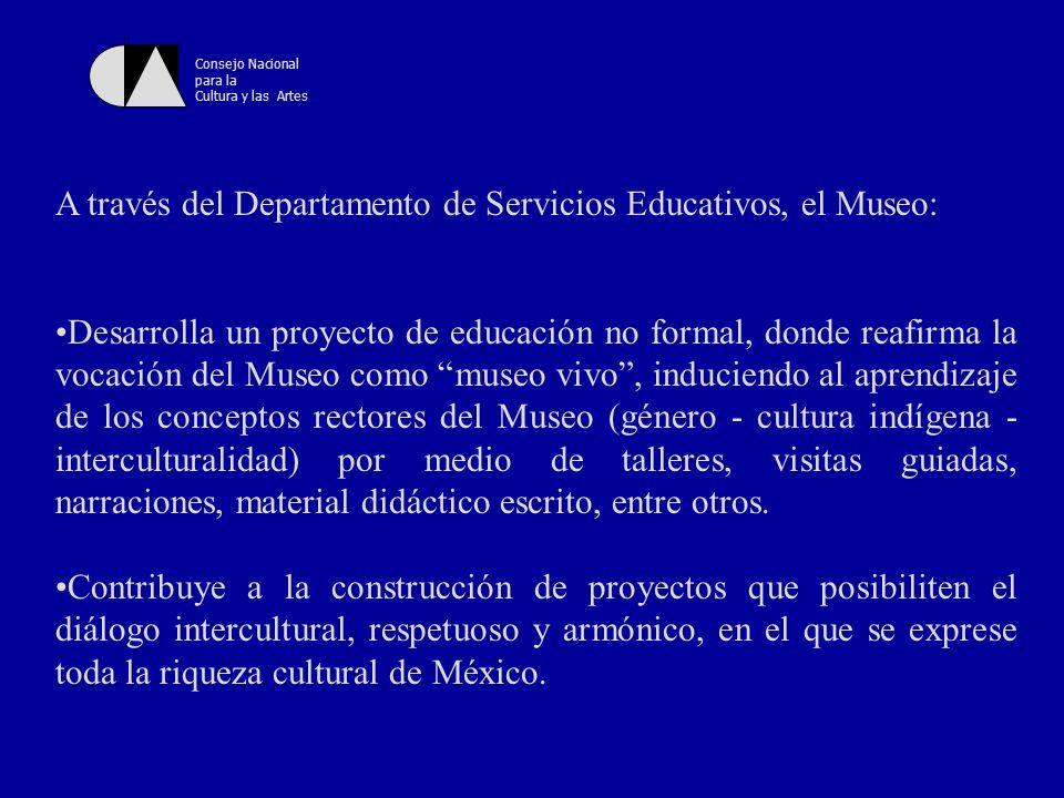 A través del Departamento de Servicios Educativos, el Museo: