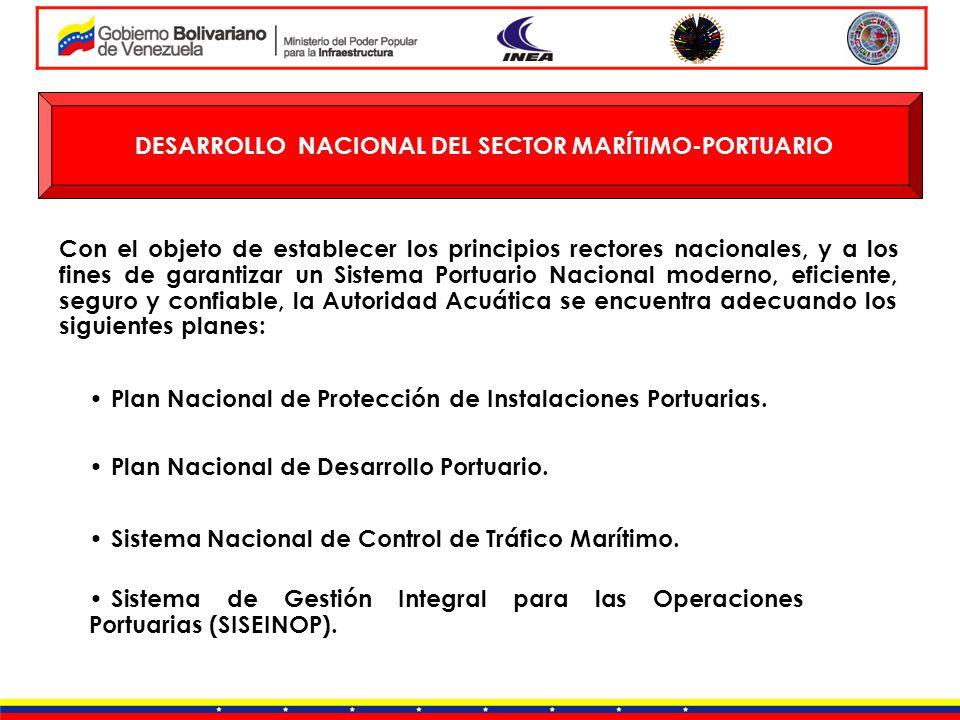 DESARROLLO NACIONAL DEL SECTOR MARÍTIMO-PORTUARIO