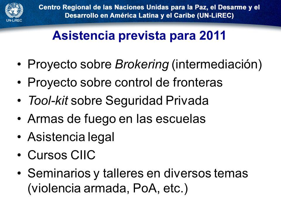 Asistencia prevista para 2011