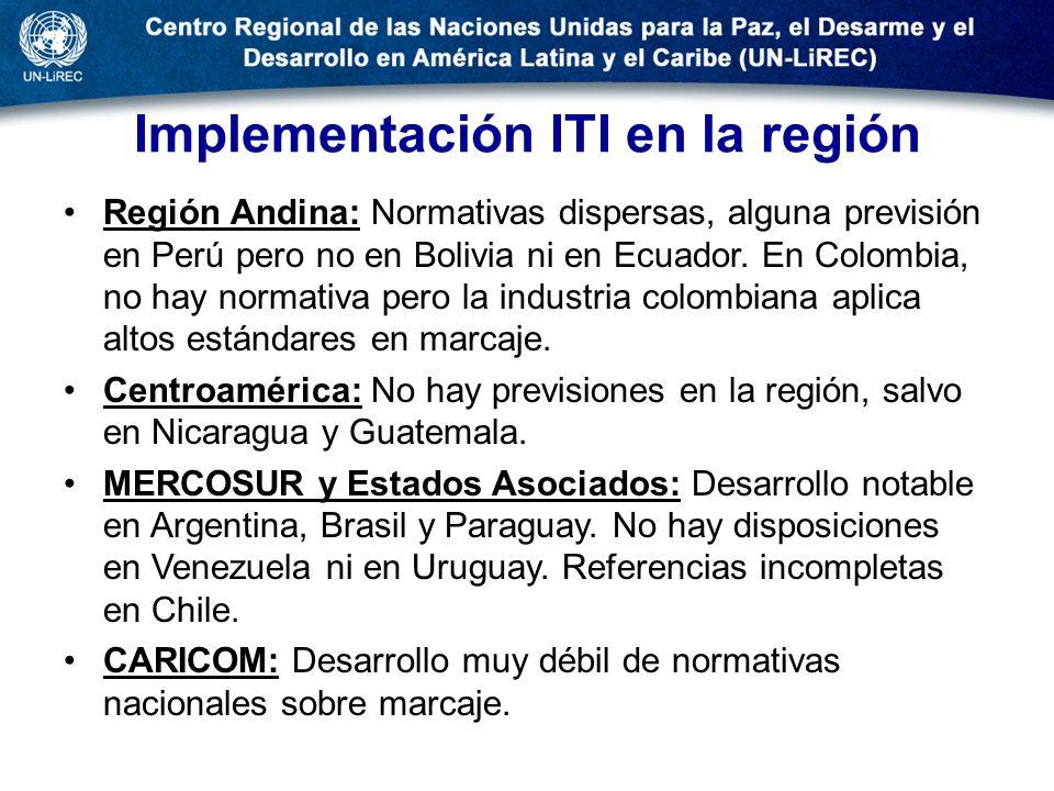 Implementación ITI en la región