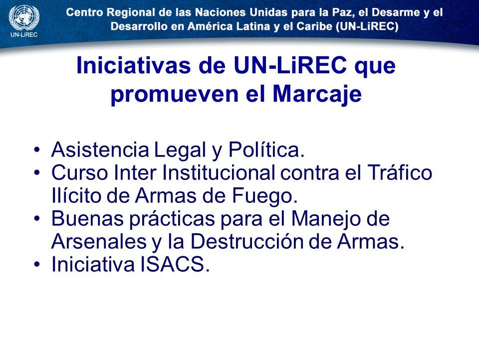 Iniciativas de UN-LiREC que promueven el Marcaje