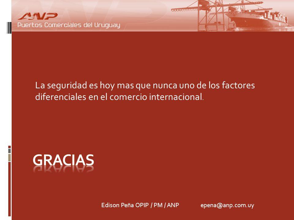 La seguridad es hoy mas que nunca uno de los factores diferenciales en el comercio internacional.