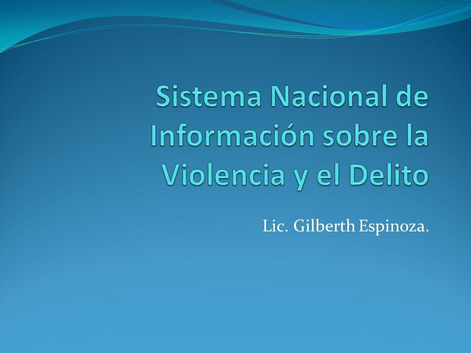 Sistema Nacional de Información sobre la Violencia y el Delito