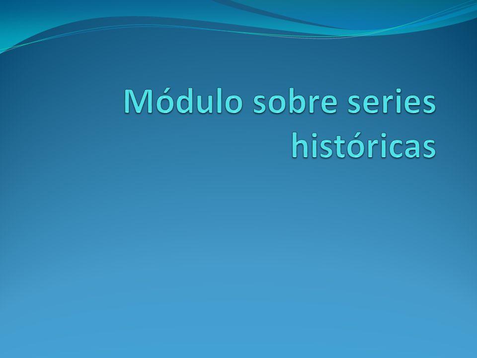Módulo sobre series históricas