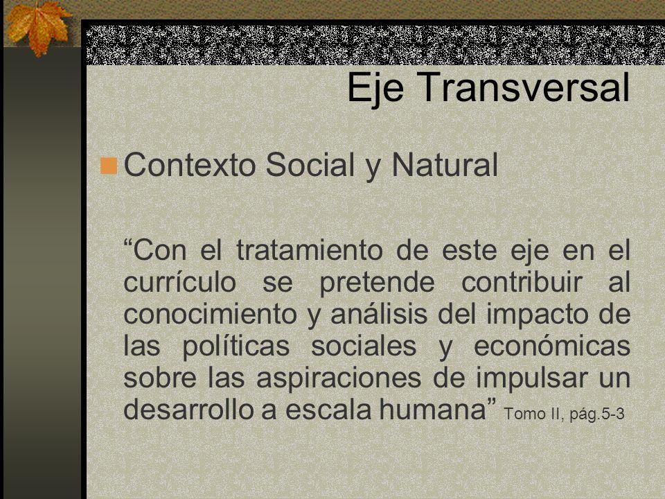 Eje Transversal Contexto Social y Natural