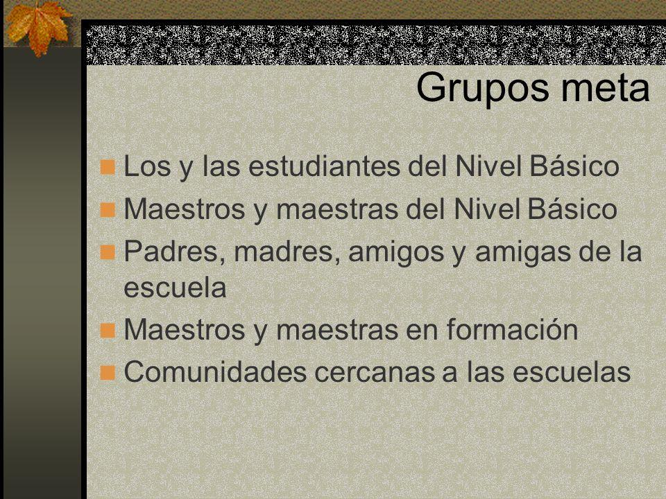 Grupos meta Los y las estudiantes del Nivel Básico