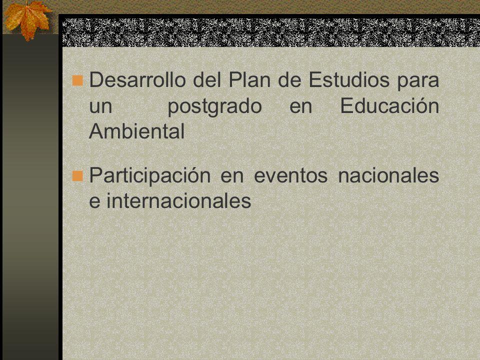 Desarrollo del Plan de Estudios para un postgrado en Educación Ambiental