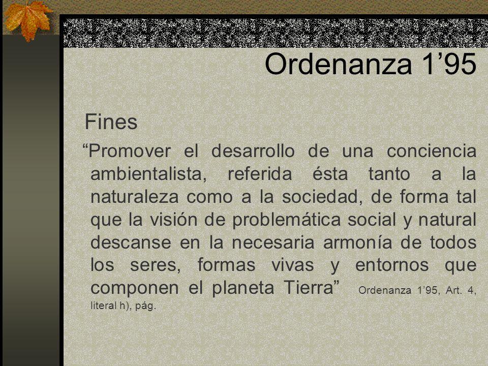 Ordenanza 1'95 Fines.